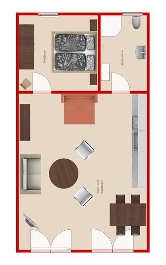 Appartement Raumaufteilung