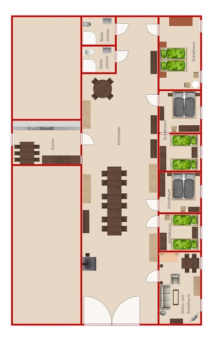 Dielen-Fewo-Raumaufteilung